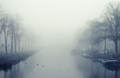 Foggy Amsterdam Canals
