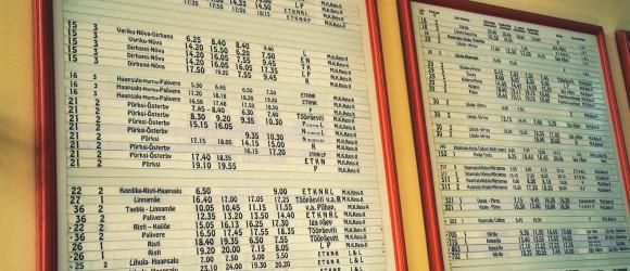 Haapsalu Old Train Schedule